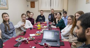 Состоялась встреча молодежки храма с протоиереем Алексием Касатиковым